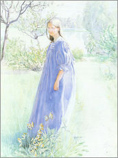 Wall sticker  Sun and flowers - Carl Larsson