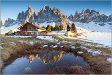 Gallery print  Hut and Odle mountains, Dolomites - Matteo Colombo