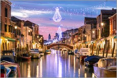 Gallery print  Canal in Venice at Christmas - Matteo Colombo