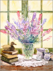 Wall sticker  Lupins on Windowsill - Julia Rowntree