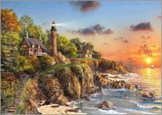 Gallery print  24081 Sunset at Craggy Point - Dominic Davison