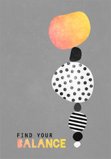Wall sticker  Find your balance - Elisabeth Fredriksson
