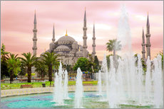 Gallery print  the blue mosque (magi cami) in Istanbul / Turkey (vintage picture) - gn fotografie