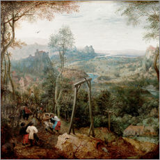 Wall Stickers  The Magpie on the Gallows - Pieter Brueghel d.Ä.