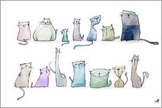 Wall sticker  Cats - artill