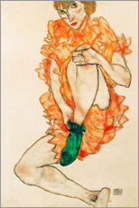 Wall Stickers  The green stocking - Egon Schiele