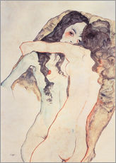 Wall sticker  Two women in embrace - Egon Schiele