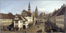 Premium poster  The market square to Pirna - Bernardo Bellotto (Canaletto)
