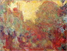 Wall sticker  House in Giverny, composition in red - Claude Monet