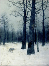 Wall sticker  Winterwald mit Wolf. 1885. - Isaak Iljitsch Lewitan