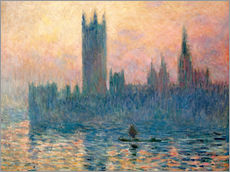 Wall sticker  Parliament in London at sunset - Claude Monet