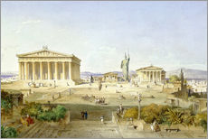 Gallery print  The Acropolis at Pericles' time - Ludwig Lange
