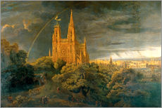 Gallery print  Cathedral (river town) - Karl Friedrich Schinkel