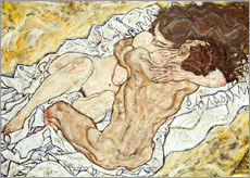 Gallery print  The Embrace - Egon Schiele