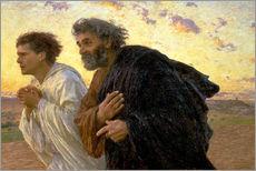 Gallery print  Morning of the resurrection, Peter and John on their way to the grave - Eugene Burnand