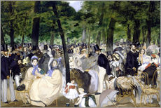 Gallery Print  Music in the Tuileries - Edouard Manet