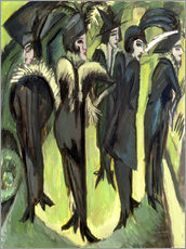 Gallery print  Five women on the Strasse - Ernst Ludwig Kirchner