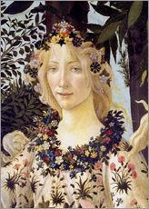 Gallery print  The spring, the head of the Flora - Sandro Botticelli