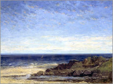 Wall sticker  Blue sea - blue sky - Gustave Courbet