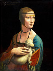 Wall sticker  Cecilia Gallerani with an ermine - Leonardo da Vinci