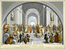Wall sticker  School of Athens (after Raphael) to 1771-79 - Giovanni Volpato