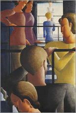 Gallery print  Group on the Railing - Oskar Schlemmer
