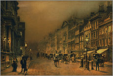 Wall sticker  St. James's Street. - John Atkinson Grimshaw
