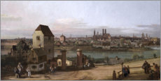 Acrylic print  Munich, seen from Haidhausen - Bernardo Bellotto (Canaletto)