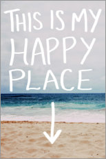 Wall sticker  Happy Place - Leah Flores
