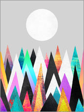 Wall sticker  Colorful Peaks 2 - Elisabeth Fredriksson
