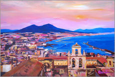 Gallery print  Naples with Mount Vesuvio - M. Bleichner