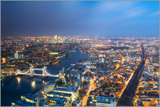 Wall sticker  Cityscape of London at night - Circumnavigation