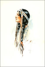 Wall sticker  Red Indian squaw - Harrison Fisher