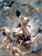 Gallery print  Witches going to their Sabbath - Luis Ricardo Falero