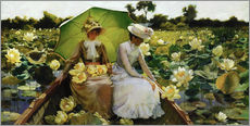 Wall Stickers  Lotus Lilies - Charles Courtney Curran