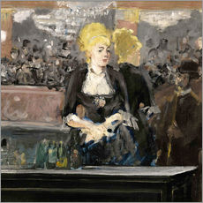 Wall Stickers  Bar at the Folies Bergère - Edouard Manet
