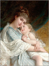 Wall sticker  A tender embrace - Emile Munier