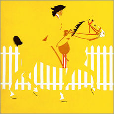 Wall sticker  Thoroughbreds - Clarence Coles Phillips