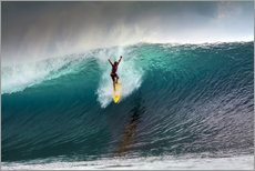 Wall Stickers  Extreme surfing huge wave - Mentawai Islands - Paul Kennedy