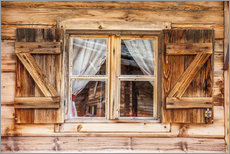 Gallery print  Window of alps cabin, South Tyrol (Italy) - Christian Müringer