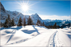 Wall sticker  Winter scenery at Grindelwald - Peter Wey