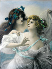 Wall sticker  Two Maidens - Edouard Bisson