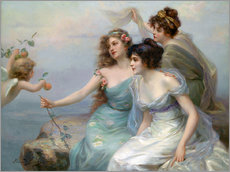 Wall sticker  The Three Graces - Edouard Bisson