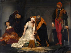 Wall Stickers  The Execution of Lady Jane Grey - Paul Delaroche