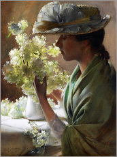 Wall sticker  Lady with a bouquet (Snowballs) - Charles Courtney Curran