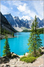Wall sticker  Moraine Lake in the valley of ten peaks, Banff National Park, Alberta, Canada - Peter Wey