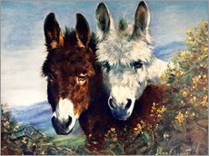Wall sticker  The Wise Ones (Donkeys) - Lilian Cheviot