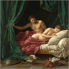 Wall sticker  Mars and Venus an allegory of Peace - Louis Jean Francois Lagrenee