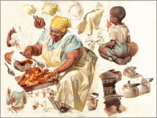Premium poster Study, the cook