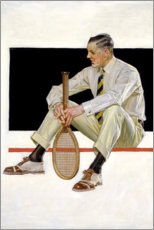 Premium poster  Tennis player - Joseph Christian Leyendecker